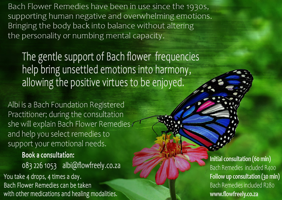 FlowFreely in nutshell using Bach Flower Remedies